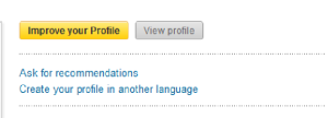 LinkedIn Improve Profile button