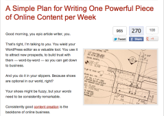 A simple plan for writing one powerful piece of content per week