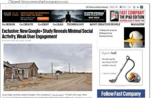 Is Google+ engagement equivalent to a ghost town?