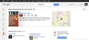 Google+ Local Austin recommendation