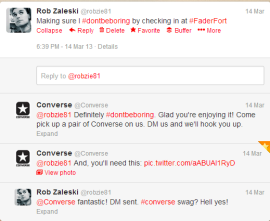 Twitter conversation with Converse