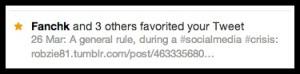 Favorited Tweet on Twitter