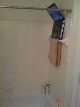 Laptop in shower